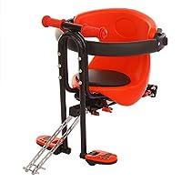 チャイルドシート 子供用電動自転車フロントチェア ベビーサドルパッド 1-5歳に適しています Red