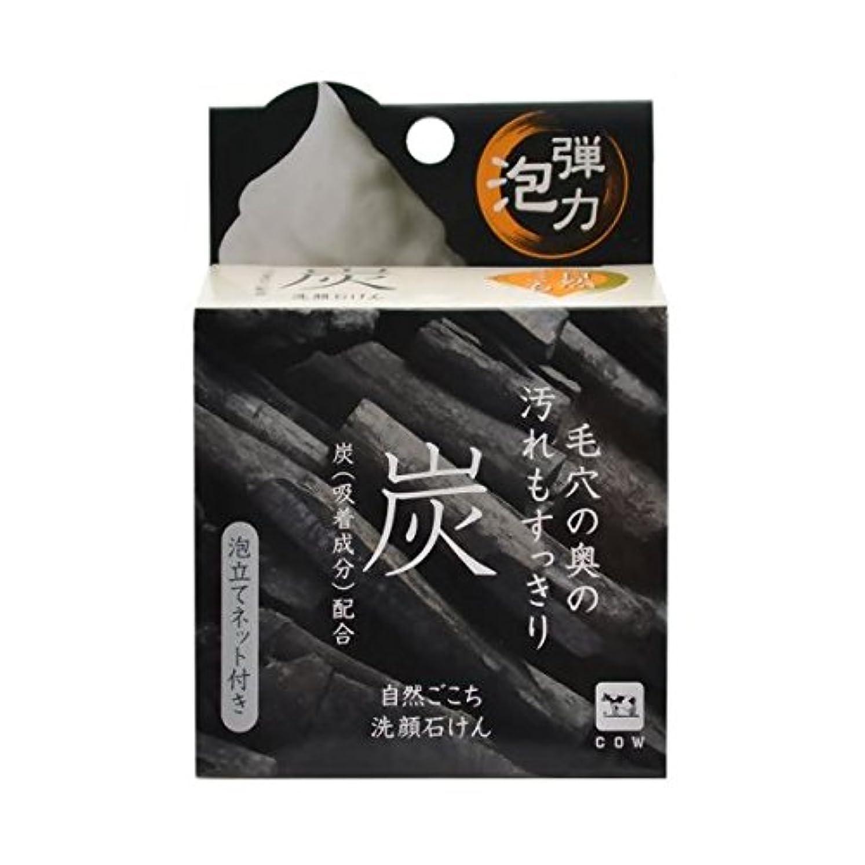【お徳用 3 セット】 自然ごこち 炭 洗顔石けん 80g×3セット