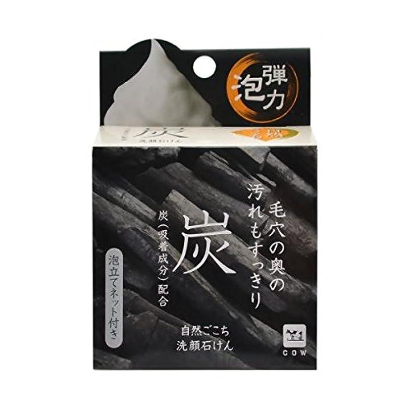 シャッター起きろ型【お徳用 3 セット】 自然ごこち 炭 洗顔石けん 80g×3セット