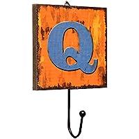 コートフックキーホール、コーヒーショップClothingショップホームリビングルーム装飾用フック、A - Z木製Lettersフック、ホーム装飾フック壁装飾fyxd