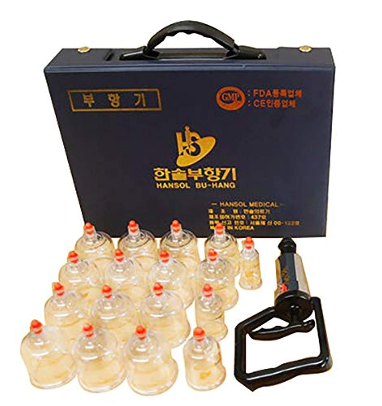 ジョガー等不名誉な中国四千年の健康法「吸玉」がご家庭で手軽にできる!ハンソルメディカル ブハン カッピングカップ17個セット