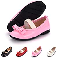 BENHERO Girl's Flat Shoes Ballerina Mary Jane Dress Wedding Shoes (Toddler/Little Kid)