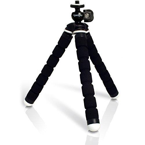iGadgitz Lightweight Small Universal Flexible Foam Mini Tripod for Nikon Coolpix A, P300, P310, P330, P340, P6000, P7000, P7100, P7700, P7800 - Black [並行輸入品]