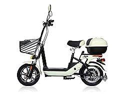 電動バイク 電動スクーター bycleL6(バイクル エルシックス) アイボリー 低シート高の軽量タイプ。
