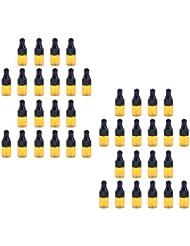 chiwanji 40個入 ドロッパーボトル ガラス瓶 エッセンシャルオイル 精油 保存容器 詰め替え 小型 1ml /2ml