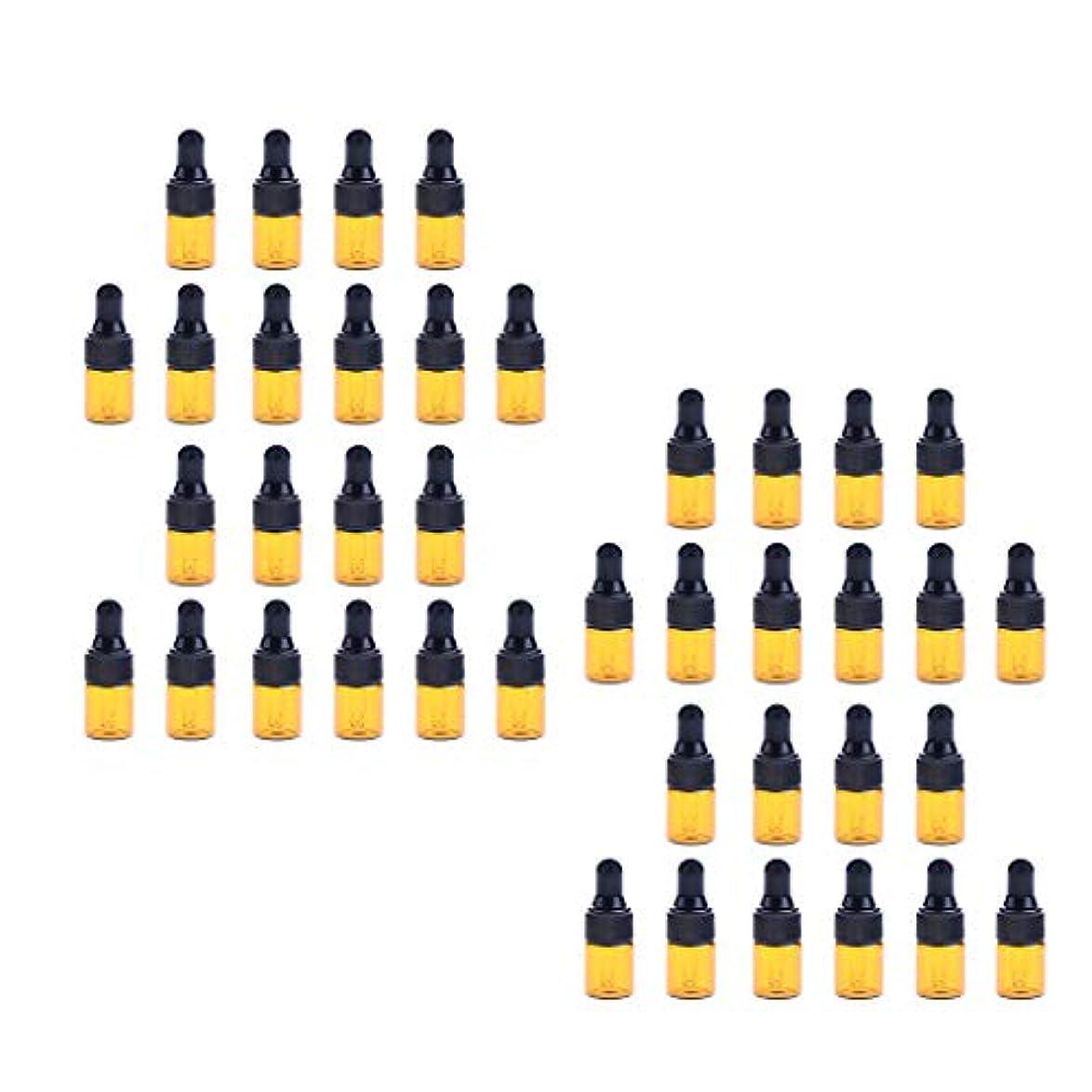 レイ意味ストライド40個入 ドロッパーボトル ガラス瓶 エッセンシャルオイル 精油 保存容器 詰め替え 小型 1ml /2ml