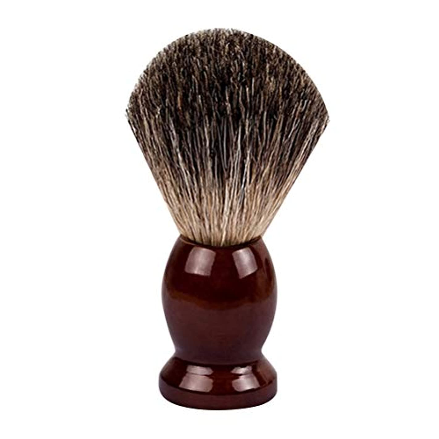 調整性交活気づくLurrose ひげ ブラシ シェービング ブラシ ウッドハンドル ヘア サロンツール 男性用