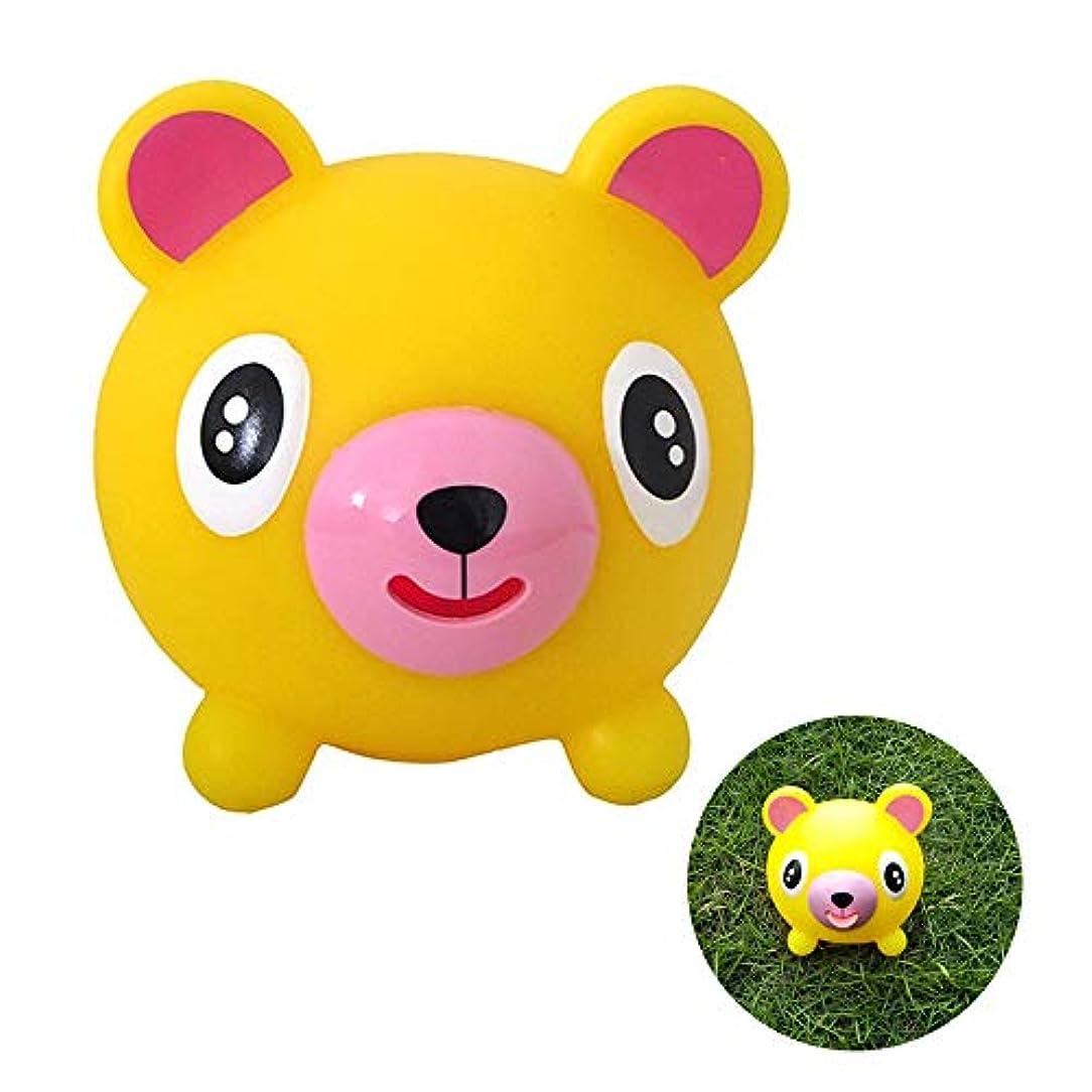 海峡ジム細胞トーキングアニマルジャバーボール、日本おしゃべりどうぶつボール舌出しストレス解消ソフトボールおもちゃ子供用 (Yellow)