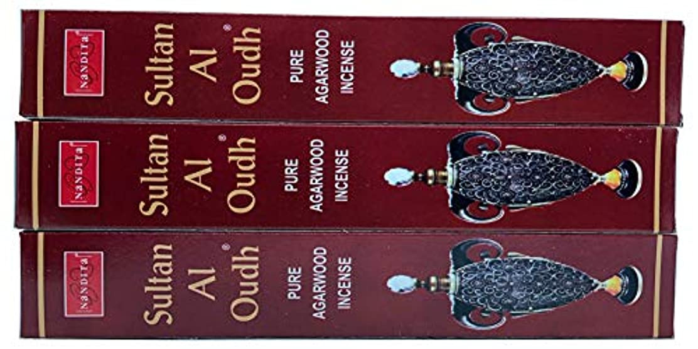殉教者避ける未来Nandita Sultan AL OUDH 天然天然アガーウッド香スティック – 3本パック (各15グラム)