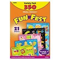 tept83906Scratch N ' Sniff Variety Pack , Fun Festステッカー、350、マルチ
