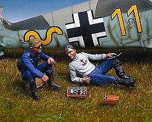 アンドレアミニチュアズ SW-10 German pilots playing chess