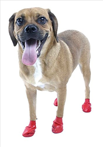 Pet Pawz Red Water-Proof Dog Boots