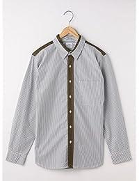 (コーエン) COEN コットンストライプ×ビエラ切り替えレギュラーカラーシャツ 75106028005