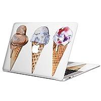 MacBook Air 13inch A1466 / A1369 専用スキンシール 2010~2017モデルまで対応 マックブック エア Mac Air 13インチ ノートブック フィルム ステッカー アクセサリー 保護 014778 アイス かわいい 夏