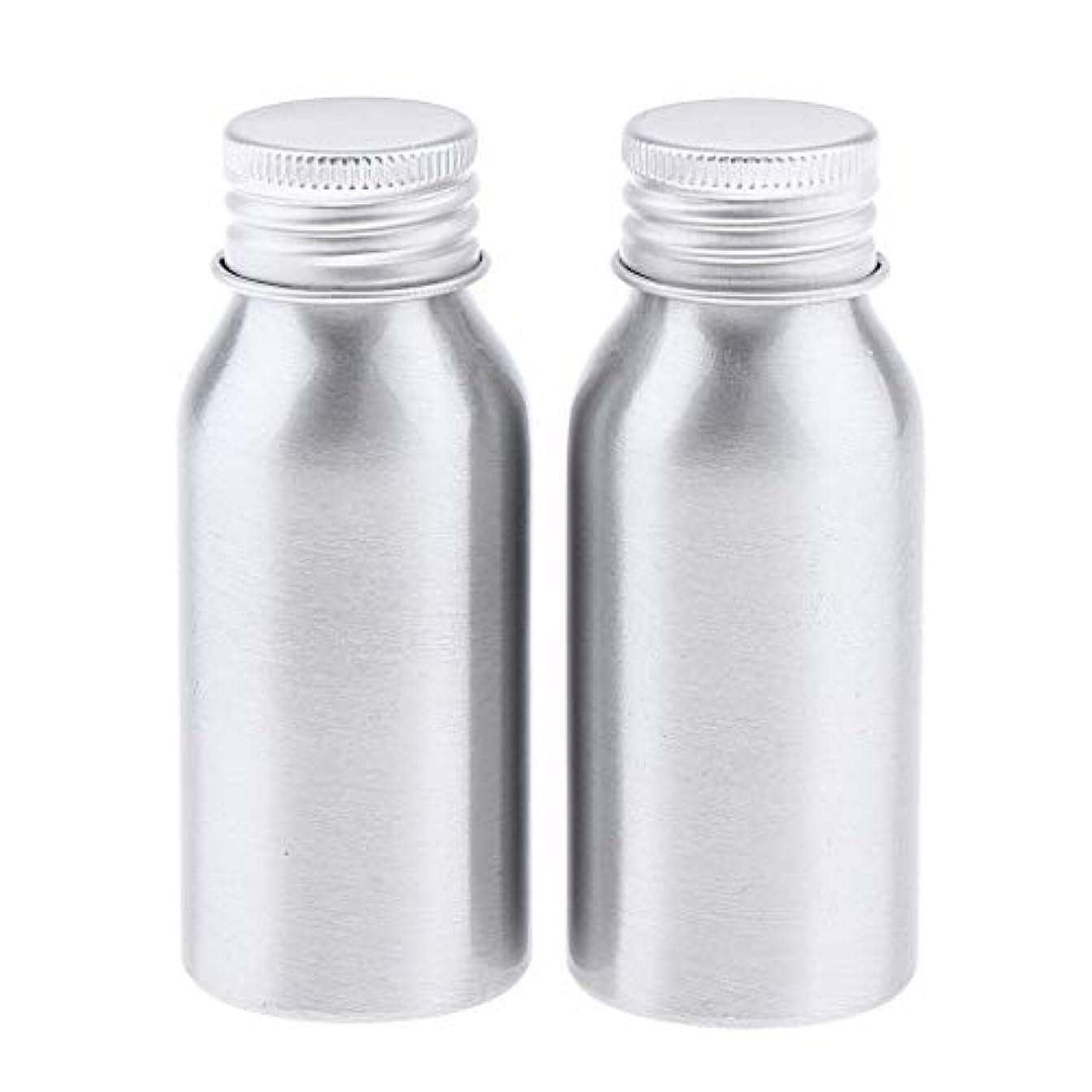 脚簡潔な接触2本 アルミボトル 化粧品 液体 収納容器 ローションボトル 5サイズ選べ - 50ml