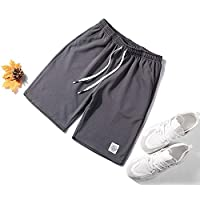 Clothing for Plus Size Men Casual Loose Shorts (Color : Dark Gray, Size : L)