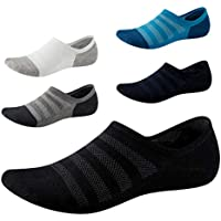 No Show Socks with Non Slip Grip for Men&Women-Low Cut Invisible Socks for Sneakers 5 Pairs Size7-11 SEESILY
