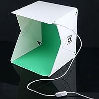 【Oxiyare1206】撮影ボックス大型 40cm*40cm*40cm ボタン式 撮影キット 簡易スタジオ 35個輝度LED搭載 撮影用照明 設置簡単 折り畳み 日本語説明書付き USB給電 コンパクト 携帯収納便利(40cm)