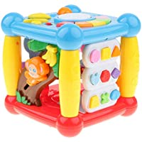 B Baosity 6in1 赤ちゃん 音楽キューブ おもちゃ ブロック 色の形の学習 曲の演奏