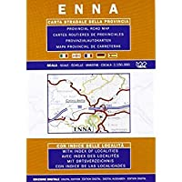 Enna Sicily - Provincial Road Map (English Spanish French Italian and German Edition)【洋書】 [並行輸入品]