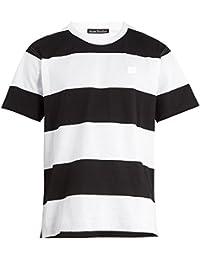 (アクネ ストゥディオズ) Acne Studios メンズ トップス Tシャツ Ned Face striped cotton T-shirt [並行輸入品]