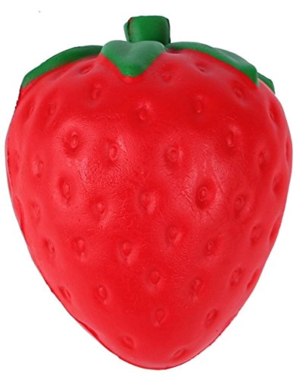 Squishy Bigイチゴ、ジャンボSlow Rising香りつき応力Relieverソフトペンダントおもちゃコレクションギフト子供大人