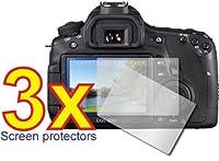 3x Canon EOS 60dデジタルカメラキット、プレミアムクリアLCDスクリーンプロテクターカバーガードシールドフィルムnoカットが必要です。Perfect Fit with満足保証。
