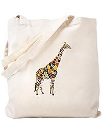 CafePress – Multicolored Giraffeトートバッグ – ナチュラルキャンバストートバッグ、布ショッピングバッグ S ベージュ 0293392519DECC2