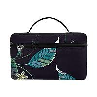 TELSG メイクボックス 梨や花 コスメ収納 化粧品収納ケース 大容量 収納ボックス 化粧品入れ 化粧バッグ 旅行用 メイクブラシバッグ 化粧箱 持ち運び便利 プロ用