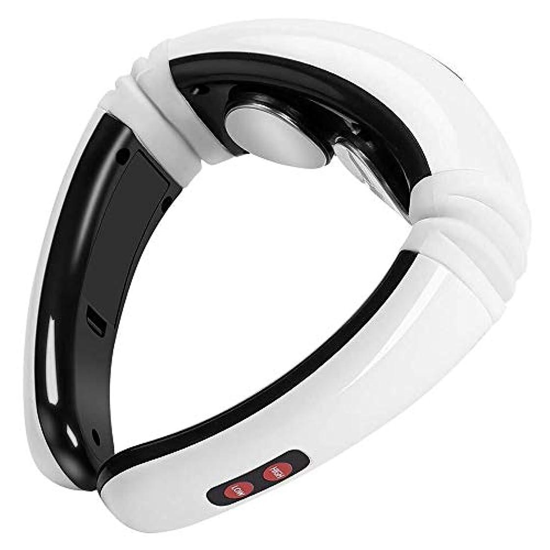 コーンアベニューに頼る磁気パルスネックマッサージャーは、インテリジェント頸椎マッサージャーは加熱機能3Dでカーオフィスホームのための技術の高周波数振動ポータブルデザインをフィッティング