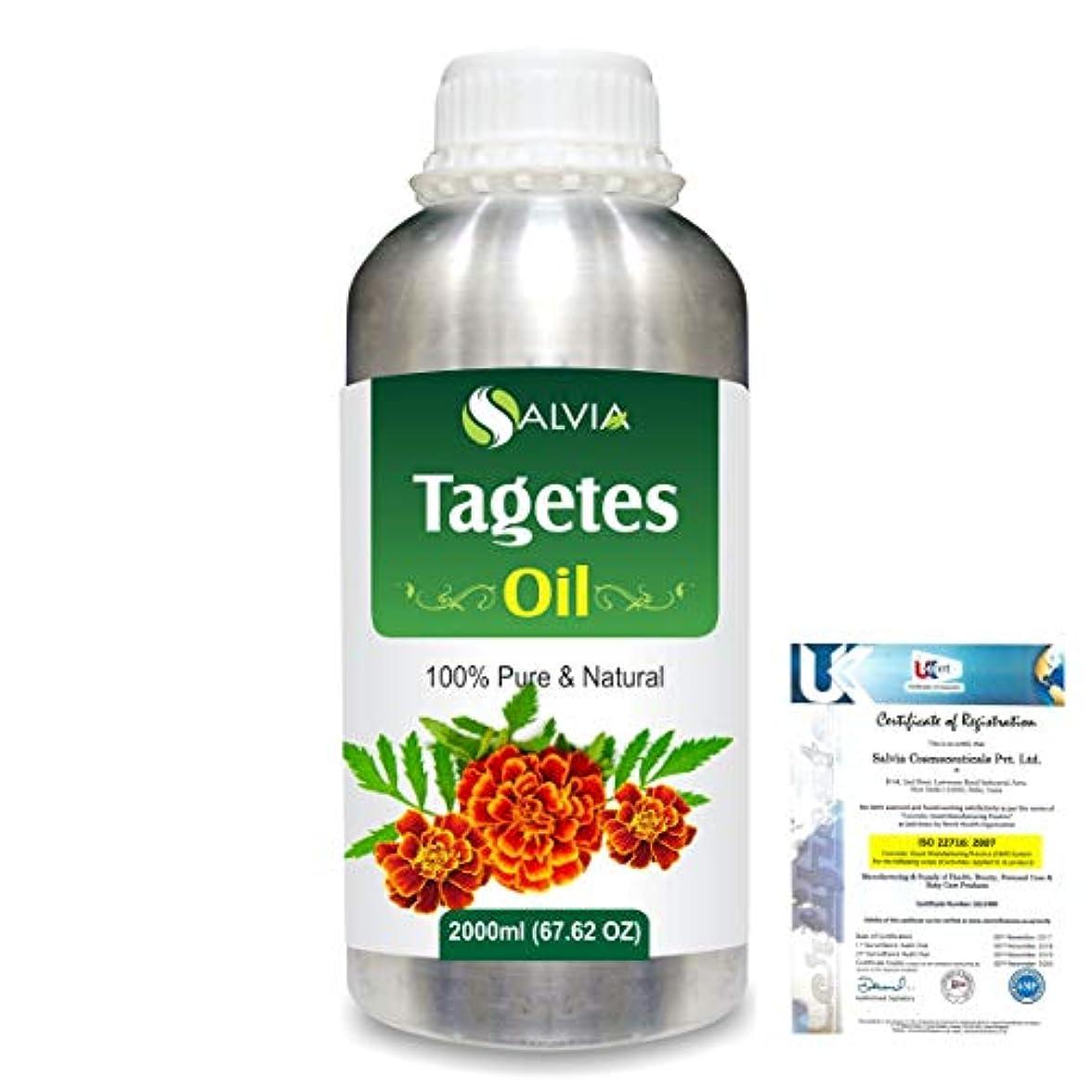 学習ヒゲクジラ委託Tagetes (Tagetes Minuta) 100% Pure Natural Essential Oil 2000ml/67 fl.oz.