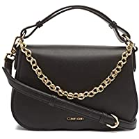 Calvin Klein Women's Western Satchel Western Satchel, Black/gold, One Size