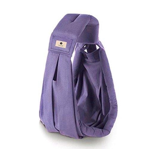 Yoler ベビースリング 成長に合わせて6way 対象0~2歳 抱っこひも 新生児 日本語説明書 (violet)