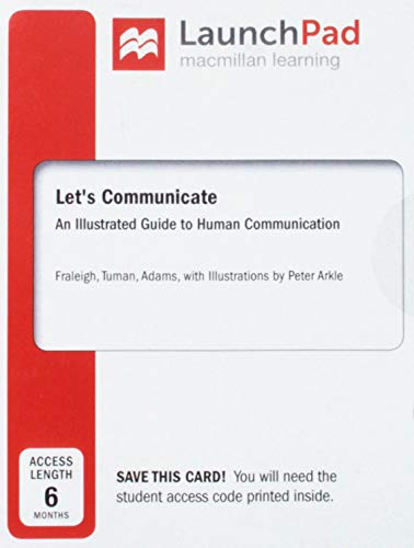 Download Launchpad for Let's Communicate, Six Month Access: An Illustrated Guide to Human Communication 1319025293