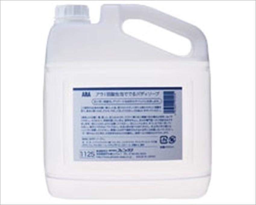 染料ルーキーバトル弱酸性泡ででるボディソープ (アラ) 4L /7-2238-02