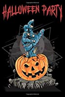 Halloween party: Halloween College-ruled_6 x 9_100_Page Blank Lined Paperback Journal/Notebook