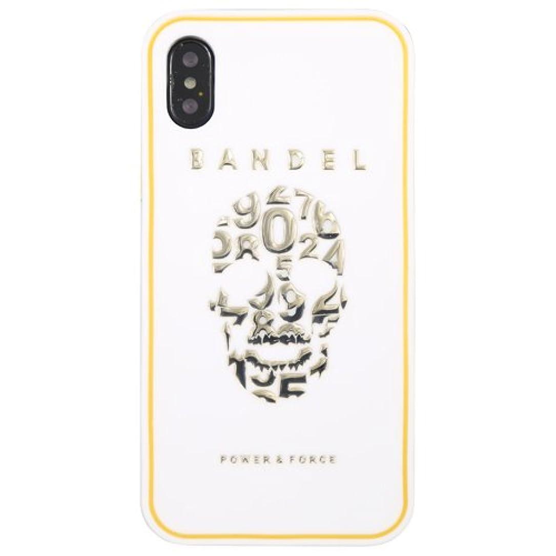 ドナーがんばり続ける少ないバンデル(BANDEL) スカル iPhone X専用 シリコンケース [ホワイト×ゴールド]