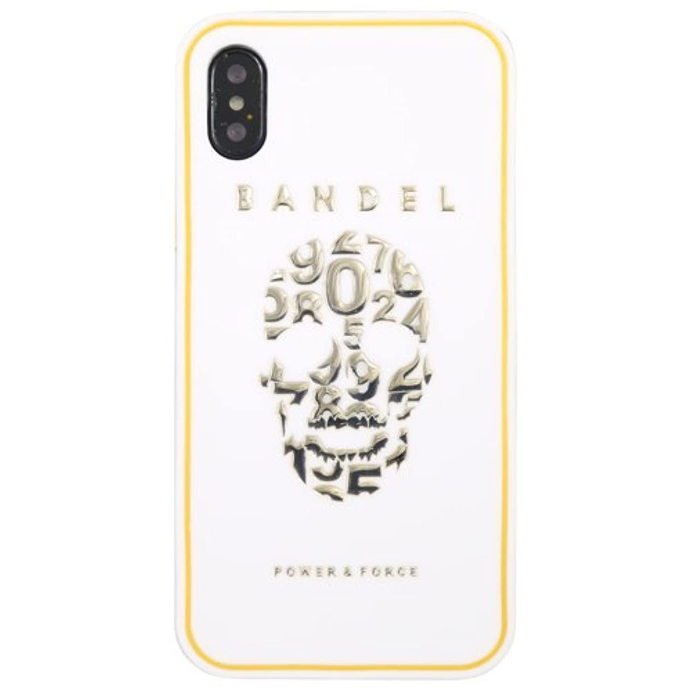 パンダ心理的贅沢バンデル(BANDEL) スカル iPhone X専用 シリコンケース [ホワイト×ゴールド]