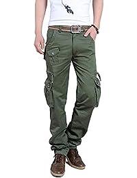 (シティヤング)Cityoung メンズ カーゴパンツ 作業着 多機能 ズボン ミリタリー ワークパンツ 6ポケット/8ポケット
