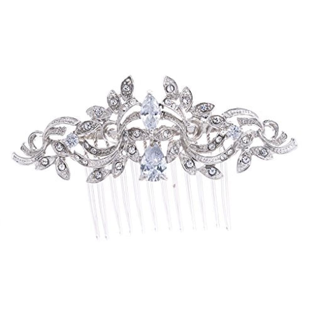 コピー自発的なにSEPBRIDALS Crystal Rhinestone Leaves Hair Comb Hair Pins Bridal Wedding Hair Accessories Jewelry 4012R [並行輸入品]