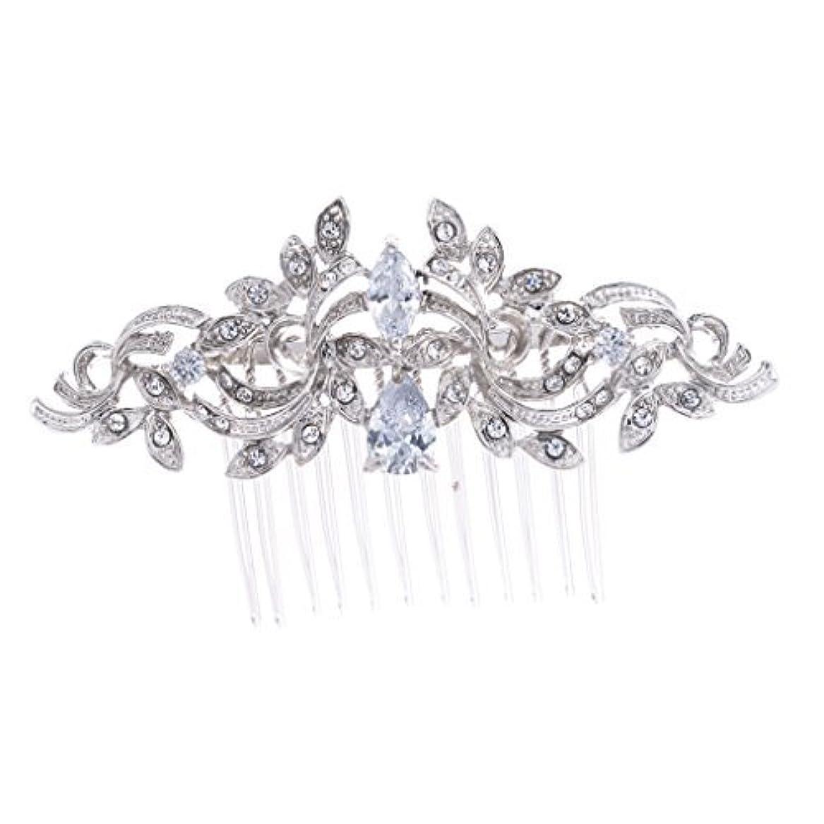 売上高病気だと思う領収書SEPBRIDALS Crystal Rhinestone Leaves Hair Comb Hair Pins Bridal Wedding Hair Accessories Jewelry 4012R [並行輸入品]