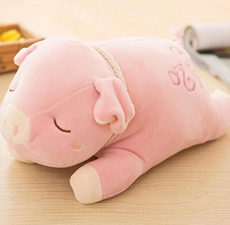 HuaQingPiJu-JP キッズクリエイティブな耐久性のあるおもちゃソフトぬいぐるみ豚の形動物玩具人形枕ベビードールおもちゃミニドール女の子と少年のための子供たちのためにホットギフト(ピンク)