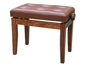 ピアノ椅子 / イス 高低自在 FS-201 QZ-WNP ( 直足,  茶 / ウォルナット艶出し )