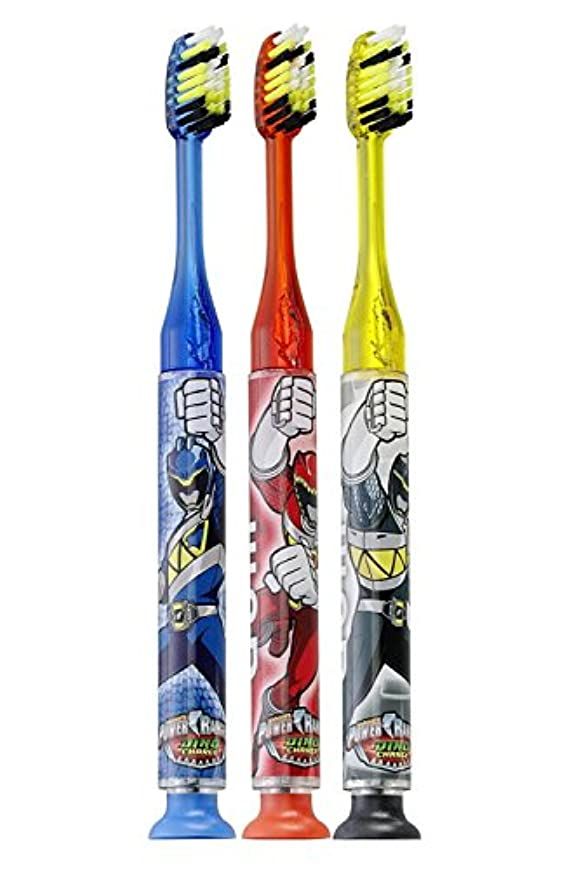 大声でバイオリンエキスパートGum Power Rangers Timer Light Toothbrush - Soft by GUM