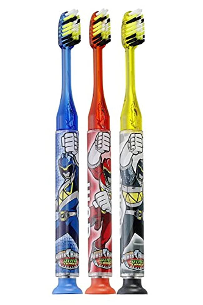 アンプ死にかけている人柄Gum Power Rangers Timer Light Toothbrush - Soft by GUM