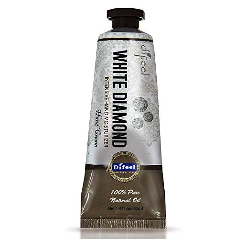 寄付科学的九月Difeel(ディフィール) ホワイトダイアモンド ナチュラル ハンドクリーム 40g WHITE DIAMOND 17WDM New York 【正規輸入品】