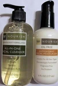 Trader Joe's Nourish All-In-One Facial Cleanser & Nourish Oil-Free Antioxidant Facial Moisturizer [並行輸入品]
