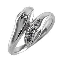 (リュイール)Luire ブラックダイヤモンド シルバー SV9号25 スネーク ヘビ リング 誕生石 指輪 3号