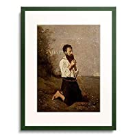 ジャン=バティスト・カミーユ・コロー Jean-Baptiste Camille Corot 「Betender Bauer.」 額装アート作品