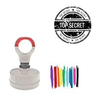 Top Secret Round Badge Style Pre-Inked Stamp